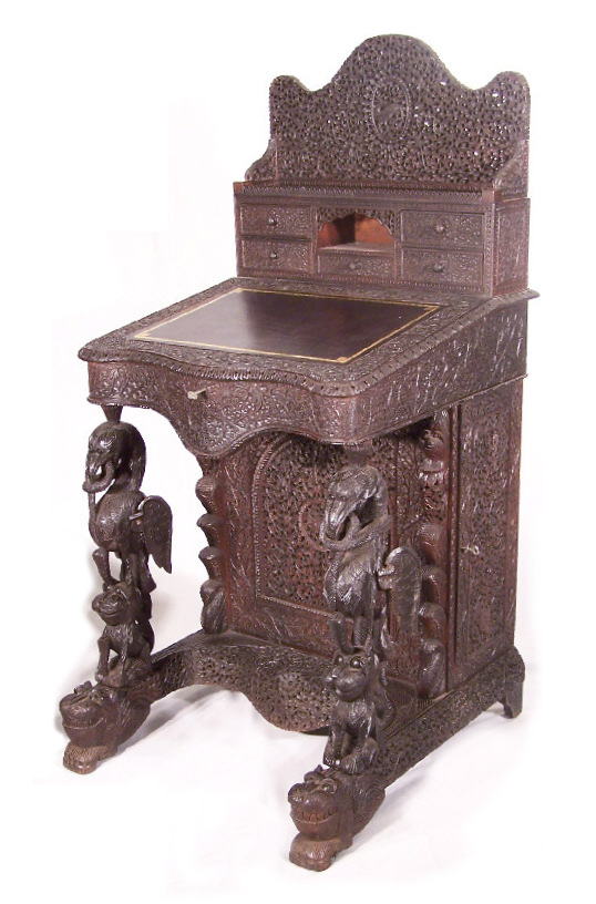 antique anglo-indian desks bombay western india rajasthan